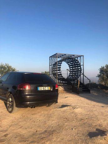 Audi a3 8p com para choques s3