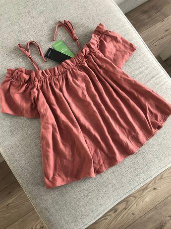 Nowa bluzka Reserved brudny róż lyocell oversize 40 L