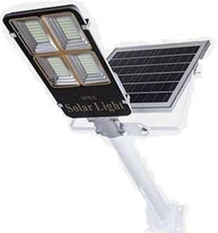 Уличный Фонарь яркий 200Ват с солнечной панелью Алюминиевый корпус