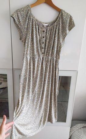 Sukienka ciążowa M kwiaty kwiatki 38 lato letnia ubrania odzież