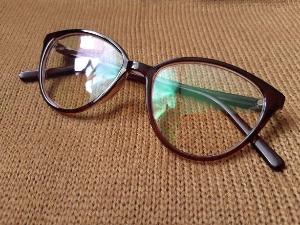 Okulary zerówki przezroczyste,kocie oczy (wysyłka olx)