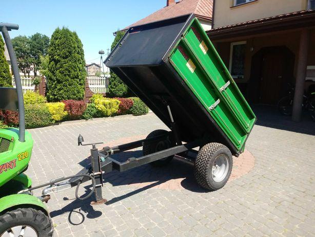 Przyczepka wywrotka ogrodnicza sadownicza Avant do traktorka przyczepa