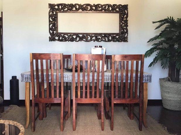 mesa, cadeiras, refeições, jantar, verga, rustico, decoração