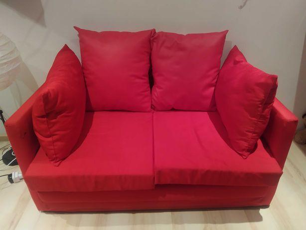 Sofa rozkładana czerwona