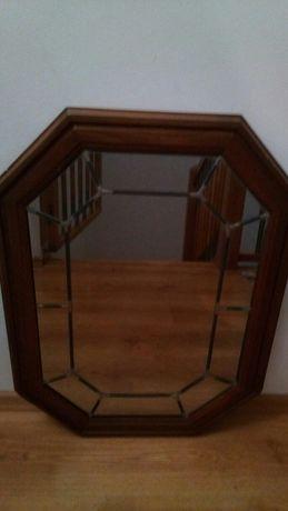 Lustro w drewnianej ramie 80x60cm