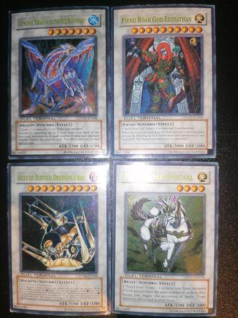 4 cartas originais DUEL TERMINAL Yu-Gi-oh