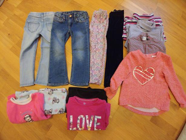 Paka zestaw 12 jesienno zimowych ubrań w r.98-104. Firmówki. H&M