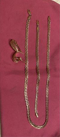 Łańcuszek ,bransoletka , kolczyki