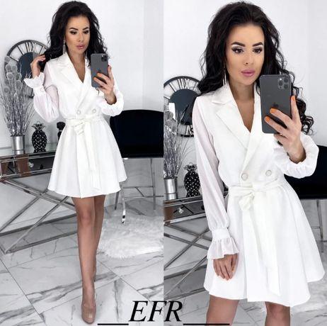 Женское платье белое, 46-48