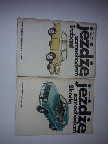 Książki obsługi i eksploatacji samochodów  Trabant i Skoda