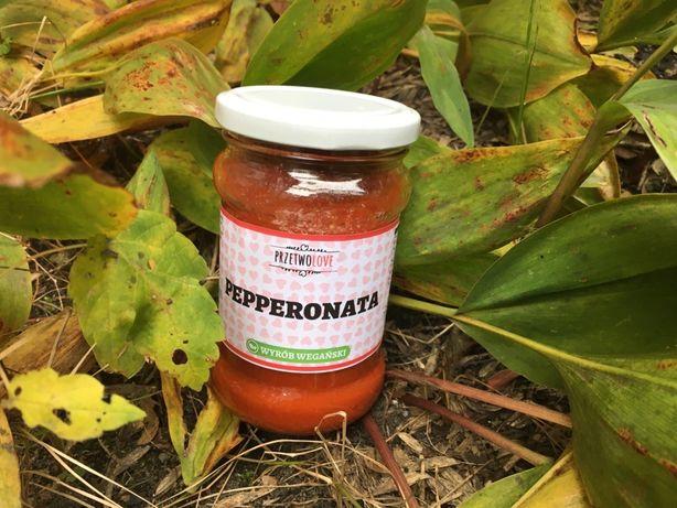 Pepperonata - sos z pieczonej papryki, pomidorow i czosnku - przetwory
