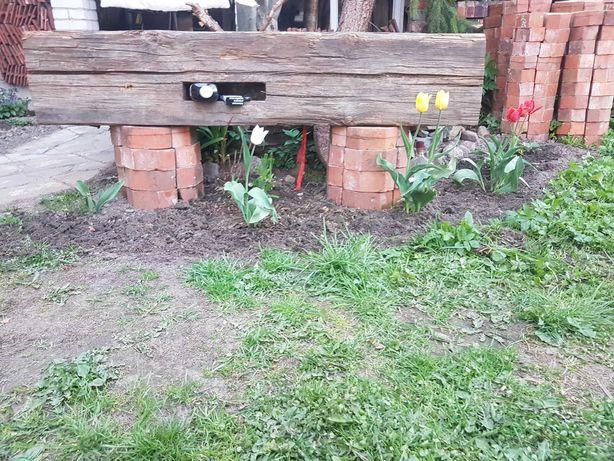 Ławka  Do Ogrodu Stare Drewno cegła