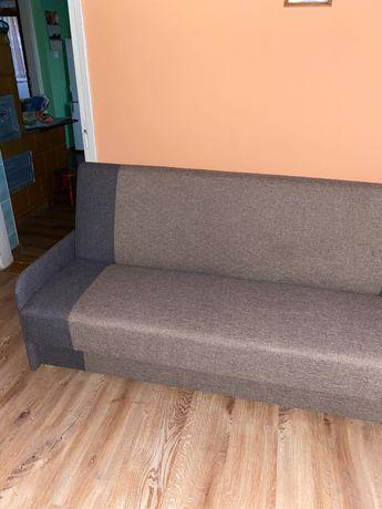 Sofa wersalka rozkładana szara idealny stan pojemnik na pościel