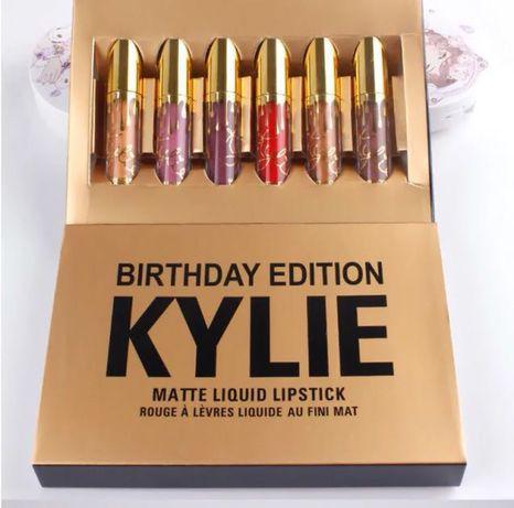 Набор жидких матовых помад Кайли KYLIE Birthday Edition 6 в 1