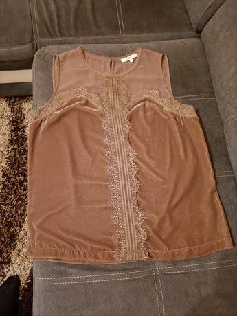 Bluzka damska welur beż L XL