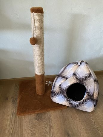 Царапка для кота ,домик для кота.