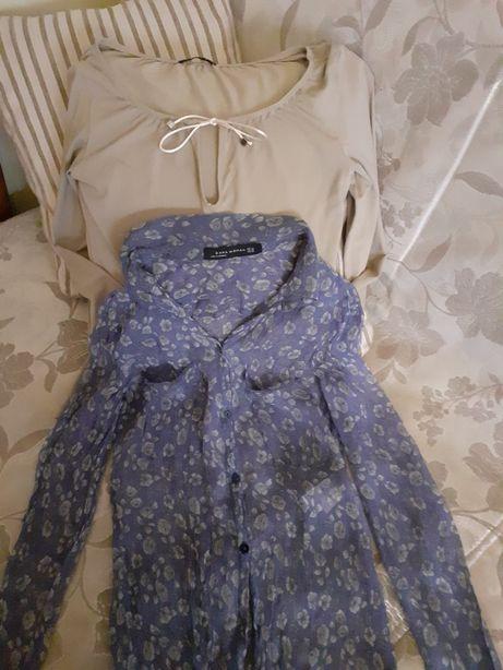 Рубашка ZARA шёлк кофта Италия как Новая классика размер ХS