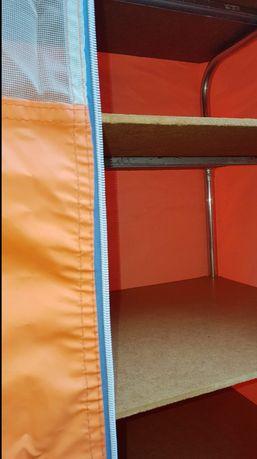 Armário com prateleira-campismo 65x110x36cm laranja (desmontável)