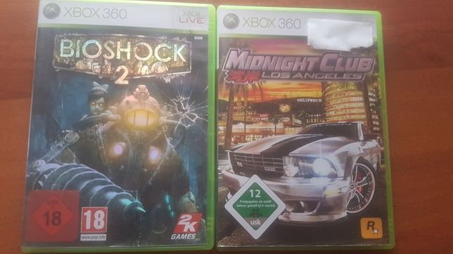 Bioshock 2,Midnight Club Los Angeles Xbox 360 Zestaw