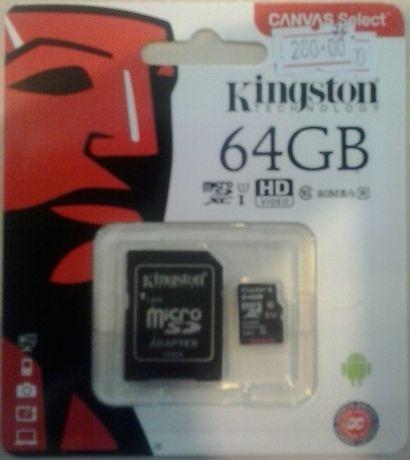 Продам нову карту пам'яті Kingston 64 Gb