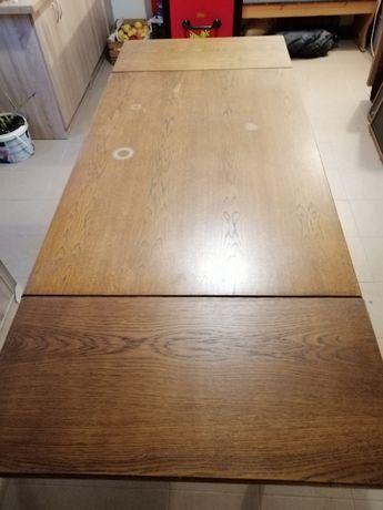 Stół dębowy rozkładany 130x85 (210cmx85cm) h=75cm