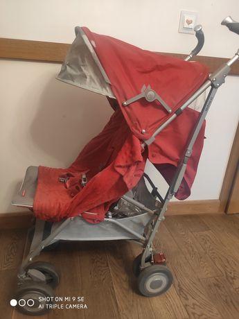 Wózek parasolka, składany Maclaren xt czerwony