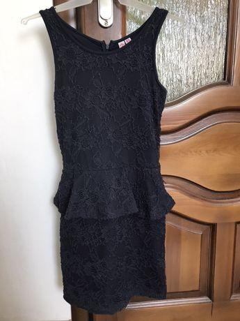 Sukienka elegancka dopasowana ołówkowa granatowa
