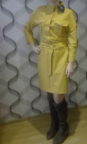 Sukienka firmy LALOUS - kolor żółty