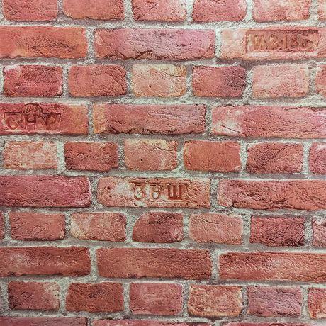 Tapeta ścienna czerwona cegła 3D kamień mur