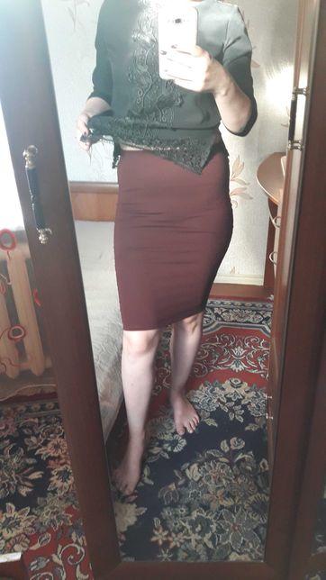Юбка женская модная летняя футболка майка платье блузка