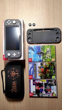 Nintendo Switch lite+ Gry Zelda,FIFA, Minecraft