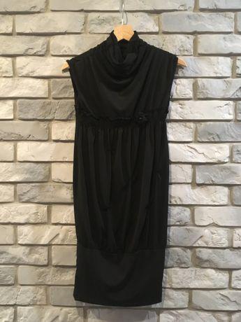 sukienka, czarna, dzianina, na co dzień, na wieczór, suknia, tunika