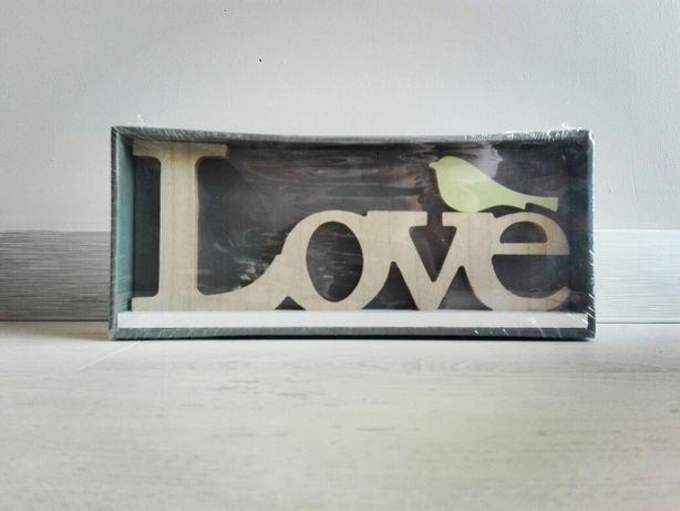 Dekoracyjny napis LOVE do domu lub na ślub