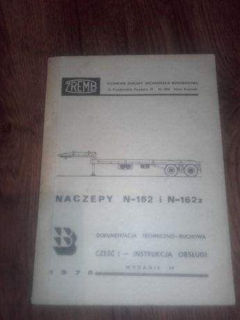 Naczepa przyczepa N-162 N 162 dokumentacja instrukcja
