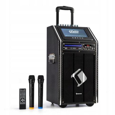 DisGo Box, 100 DVD, przenośny system PA, maks. 300