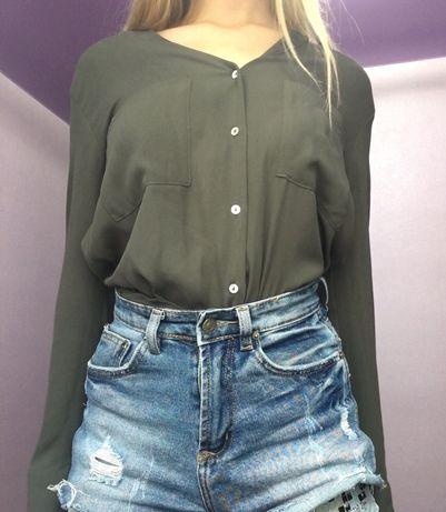 рубашка , блузка , рубашка хаки