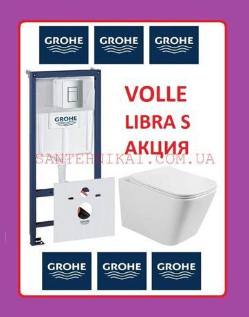 Инсталляция Grohe Rapid SL 3884000G + Унитаз VOLLE LIBRA S Rimless
