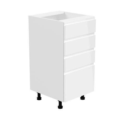 ASPEN D40S4 Szafka dolna z szufladami biała