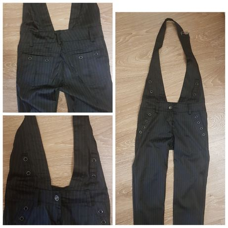 штаны стильные шлейфа через плечо