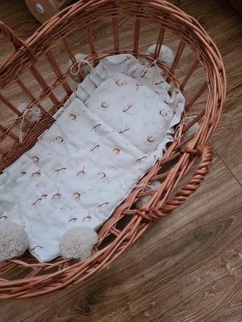 Wiklibox kosz mojżesza dla lalek z pościelą  nowy