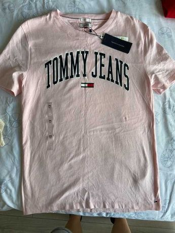 Koszulka damska Tommy Hilfiger pudrowy róż r. M