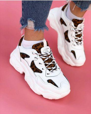 Кроссовки на платформе, стильные белые кроссовки