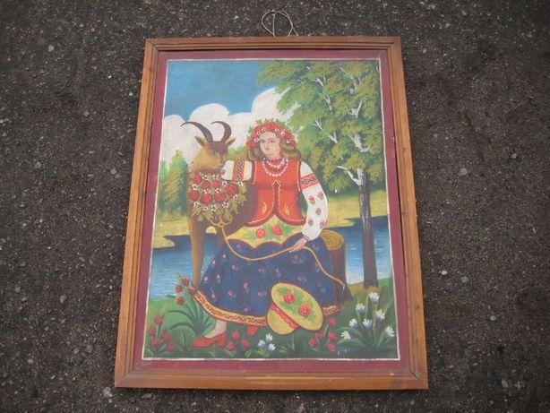 Картина Девушка и олень