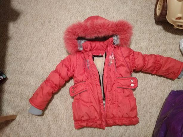 Продам детскую зимнюю куртку со штанами
