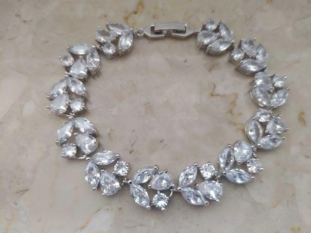 Ślubna bransoletka z kryształkami