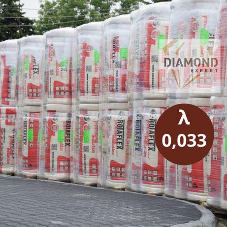 Wełna Mineralna Na Poddasze- 15 cm - Rolki 0,033 - Diamond Expert