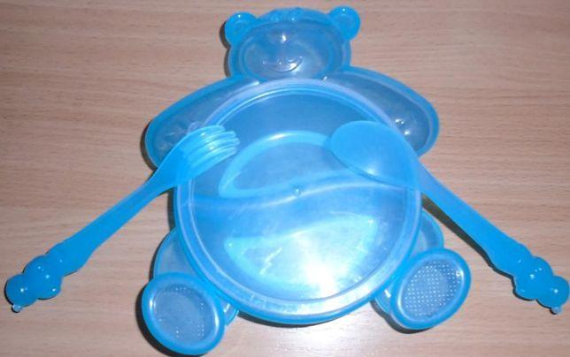 Набор столовых приборов+тарелочка Canpol Babies