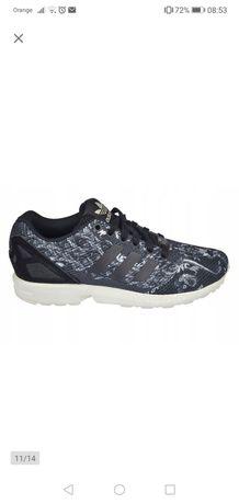 Nowe buty Adidas ZX FLUX 38 2/3 czarne biały wzor