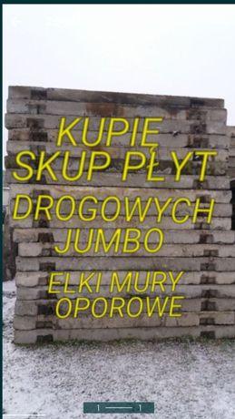 Płyty drogowe betonowe jumbo elki ściany oporowy murki