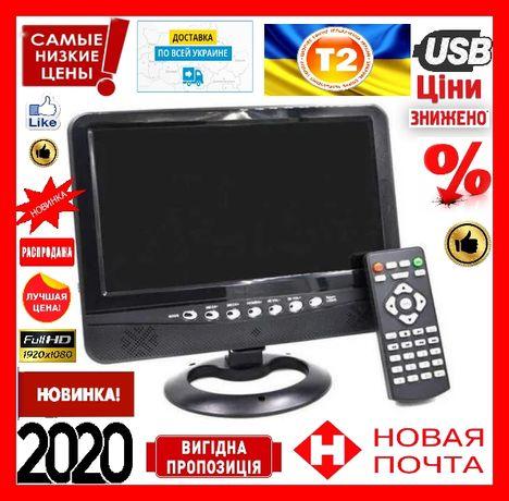 """Автомобильный портативный телевизор 9,5"""" Opera OP-902 T2 TV USB"""